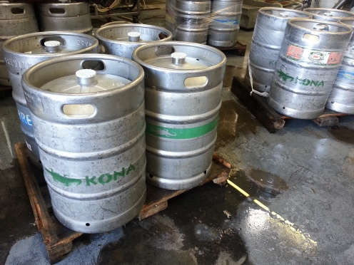 Cold kegs ready to go to some lucky bar or restaurant.