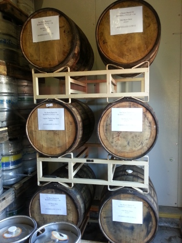 The Barrel Aged beers that Kona is working on.