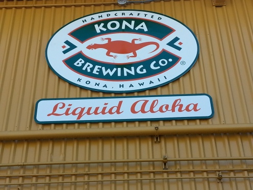 The Kona Brewing Company sign above their warehouse.