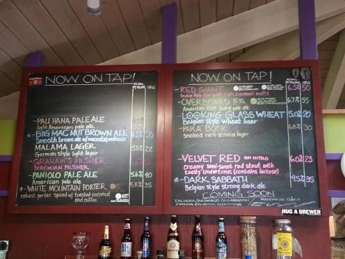 The Tap Board at the Big Island Brewhaus.